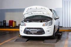 Car At Auto Repair Shop Stock Photography
