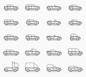 Car body types icons Stock Photo