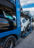 Car carrier truck Stock Photography
