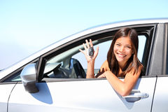 Car driver woman Royalty Free Stock Photography