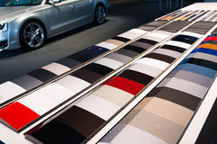 Car paint samples Stock Photo