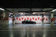Car in parking garage Stock Photo