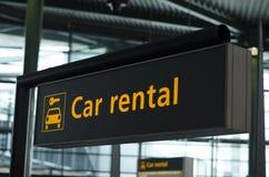 Car rental sign Stock Photos