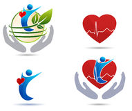 Cardiovascular disease treatment icons Royalty Free Stock Image