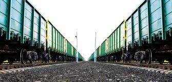 Cargo freight train Stock Photos