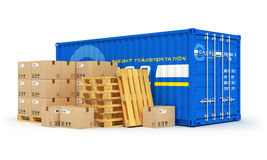 Cargo, shipping and logistics concept Stock Images