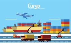 Cargo, Logistics and transportation. Royalty Free Stock Photography