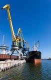 Cargo ship in the port Royalty Free Stock Photos
