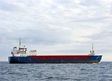 Cargo ship at sea Royalty Free Stock Photo