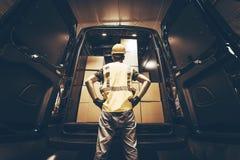 Cargo Van Delivery Stock Images