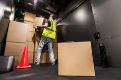 Cargo Van Loading Stock Photography