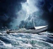 Carico di barca di soldi Fotografie Stock