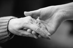 Caring For The Elderly Royalty Free Stock Image