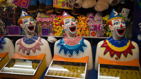 Carnival laughing clowns Stock Photos