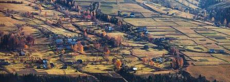Carpathian village, autumn in Ukraine Royalty Free Stock Photography