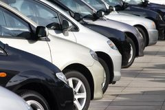 Cars Formation Stock Photography