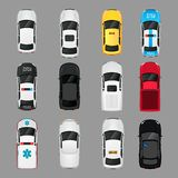 Cars icons top view Stock Photography
