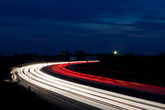 Cars were in the night on a highway Royalty Free Stock Photo