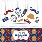 Cartão do dia de pais com gaiola da cor Imagens de Stock