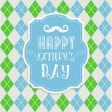 Cartão do dia de pais no estilo retro Fotos de Stock Royalty Free