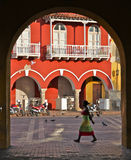 Cartagena alley, Colombia Royalty Free Stock Image