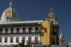 Cartagena de Indias architecture. Colombia Royalty Free Stock Images