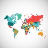 Carte politique du monde Photos libres de droits