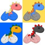 Cartoon Baby Dinosaur/Dragon Royalty Free Stock Photos
