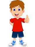 Cartoon boy giving you thumbs up Stock Photo