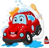 Cartoon car wash character Stock Photography