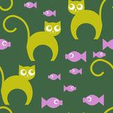 Cartoon cat repetition Royalty Free Stock Image