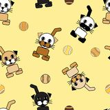 Cartoon cat repetition Royalty Free Stock Images