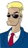 Cartoon character FBI-guy Royalty Free Stock Images