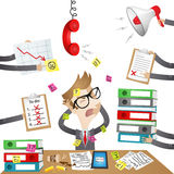 Cartoon character: Stressed out Businessman Royalty Free Stock Image