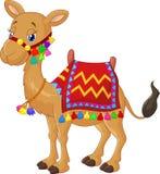 Cartoon decorated camel Royalty Free Stock Photo
