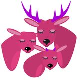 Cartoon deer family Stock Image