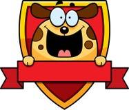 Cartoon Dog Badge Stock Photos