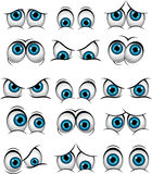 Cartoon faces with various expressions for you design Royalty Free Stock Images