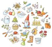 Cartoon Gardening Set Royalty Free Stock Image