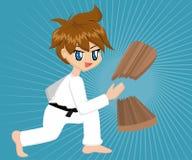 Cartoon Karate Boy Royalty Free Stock Photo