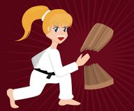 Cartoon Karate Girl Royalty Free Stock Image