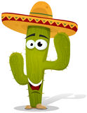 Cartoon Mexican Cactus Character Royalty Free Stock Image