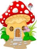 Cartoon mushroom house Royalty Free Stock Photos