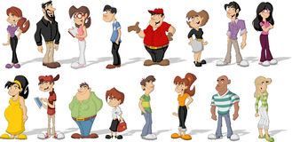 Cartoon people Royalty Free Stock Photography