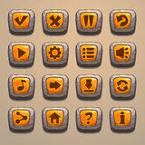 Cartoon stone buttons Stock Images