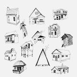 Casas del vector fijadas Fotografía de archivo libre de regalías