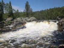 Cascada Myantyukoski Parque nacional de Paanajärvi Fotografía de archivo libre de regalías