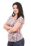 Casual woman with arms folded Royalty Free Stock Photo