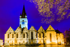 Cathedral church in Sibiu Stock Photography