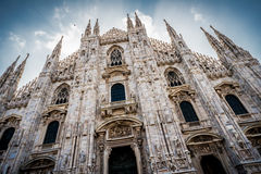 Cathedral of Milan in Italy Stock Photography